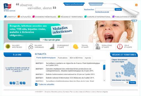 L'InVS se dote d'un nouveau site Internet