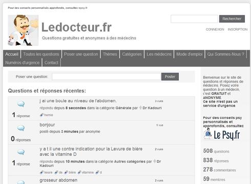 Lancement du site ledocteur.fr
