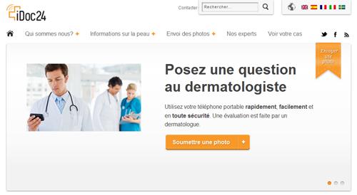 iDoc24 : plateforme web pour obtenir l'avis médical d'un dermatologue