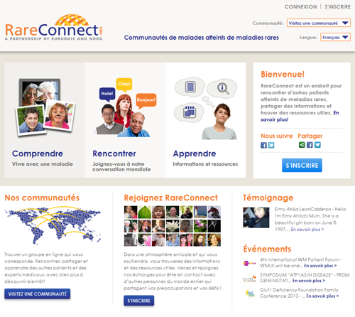 Rare Connect : communauté de patients atteints de maladies rares