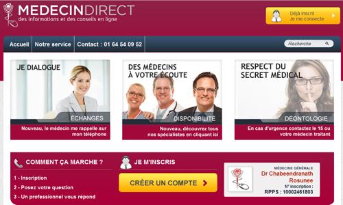 MédecinDirect, une plateforme médicale pour accompagner les patients
