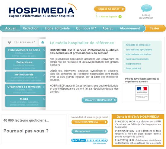 Nouvelle version pour la plateforme web Hospimedia