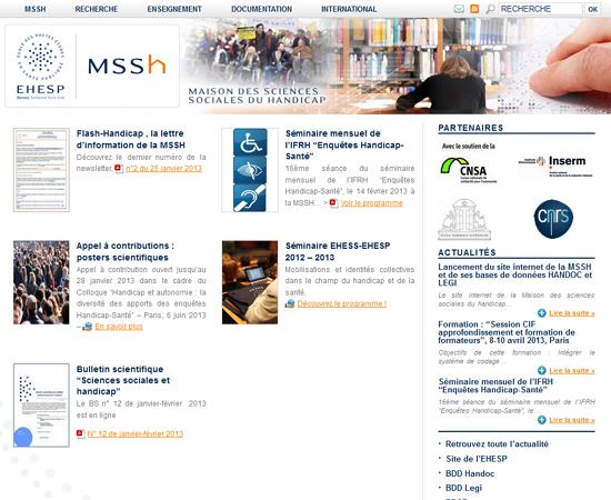 La MSSH lance son nouveau site web