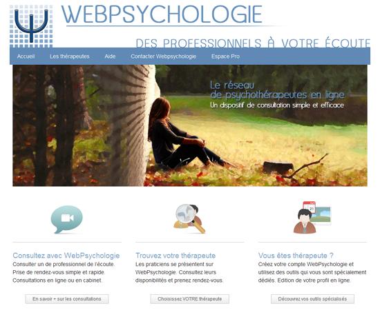 Webpsychologie : réseau de psychothérapeutes en ligne