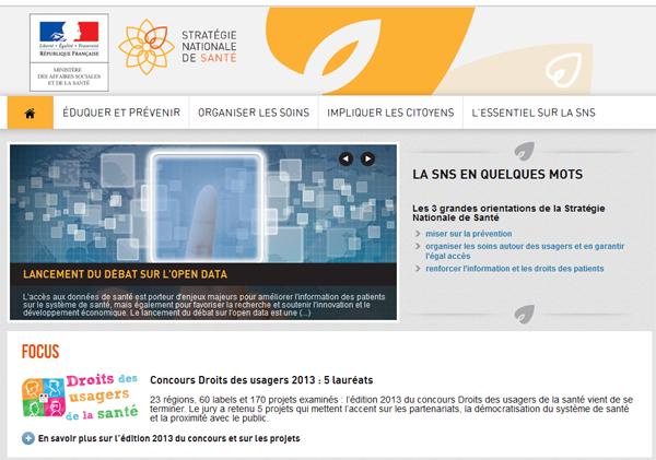Un site web pour la stratégie nationale de santé