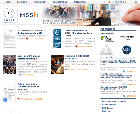 Maison des sciences sociales du handicap (MSSH)