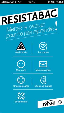 Resistabac : nouvelle application mobile pour aider à l'arrêt du tabac