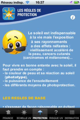 SoleilRisk : application de prévention sur les dangers du soleil