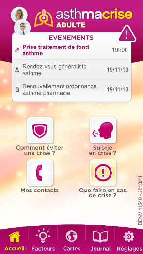 AsthmaCrise : application mobile pour patients asthmatiques