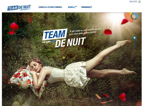 Site web teamdenuit.fr