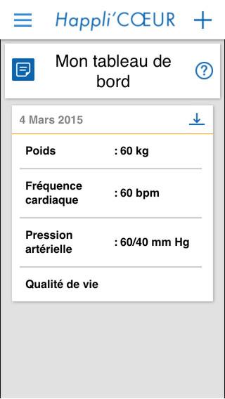 Happli'CŒUR : application pour patients insuffisants cardiaques