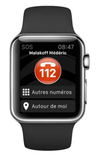 SOS Urgences sur Apple Watch