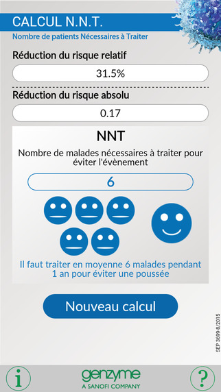 Calcul N.N.T. : application pour calculer les NNT en neurologie
