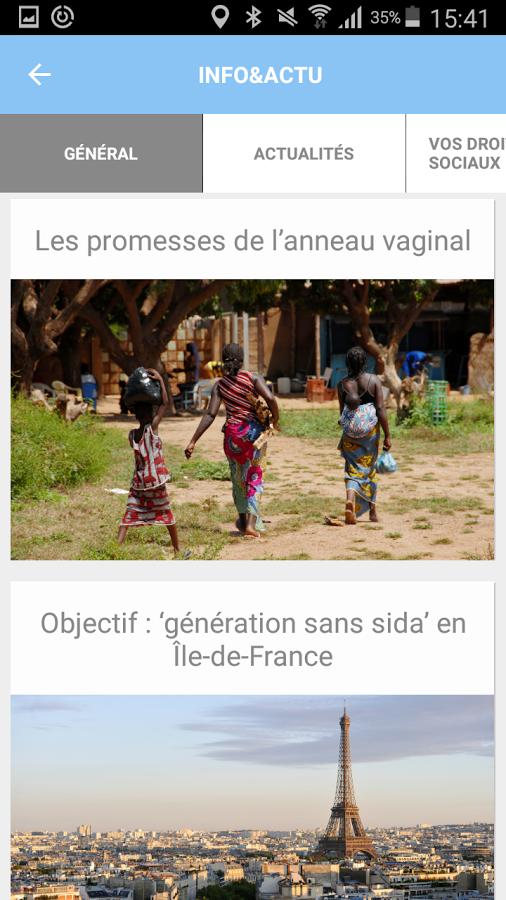 Entr'L : application pour femmes séropositives
