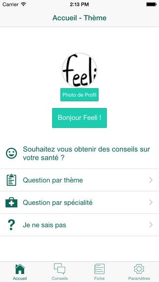 Feeli : application de messagerie instantanée santé