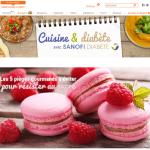 Cuisine et diabète avec Sanofi diabète sur Marmiton
