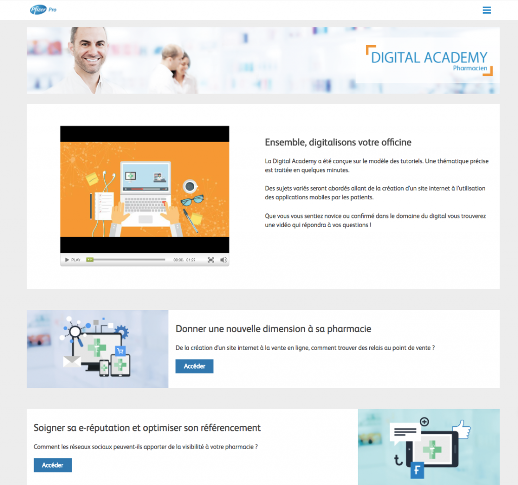 Digital Academy Pharmacien par Pfizer