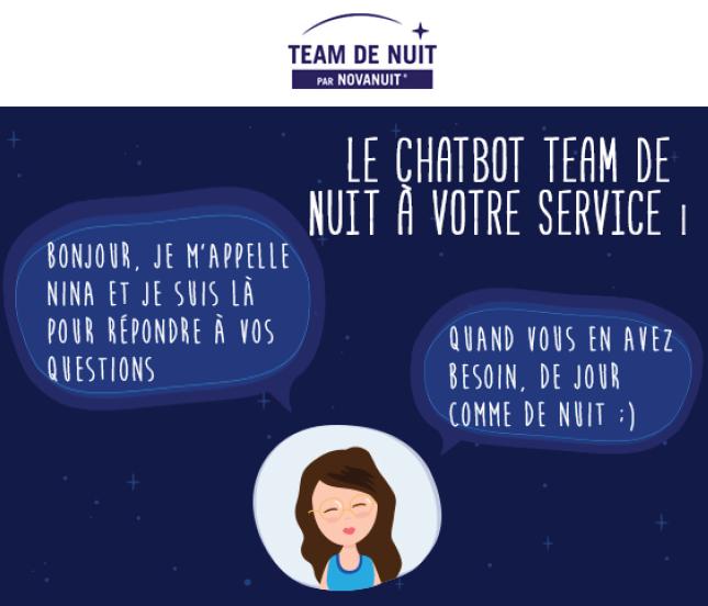 Nina le chatbot Team de nuit par Novanuit
