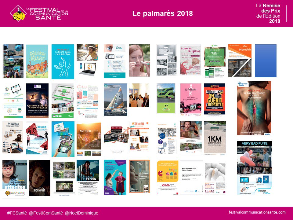 Palmarès FCSanté 2018